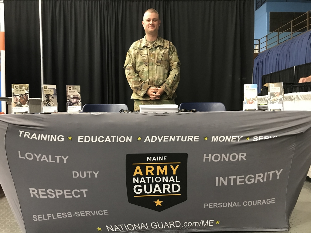 Maine army national guard booth.